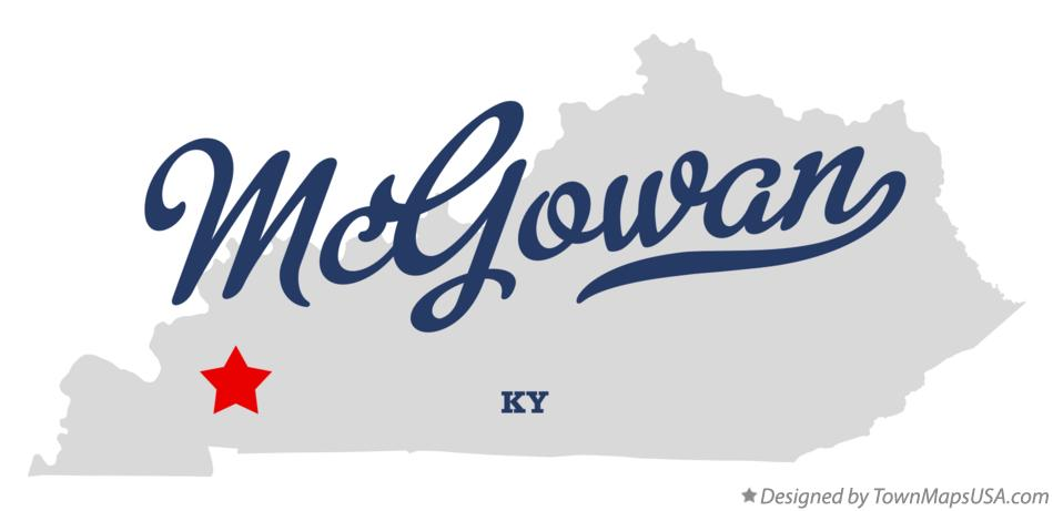 Map of McGowan Kentucky KY