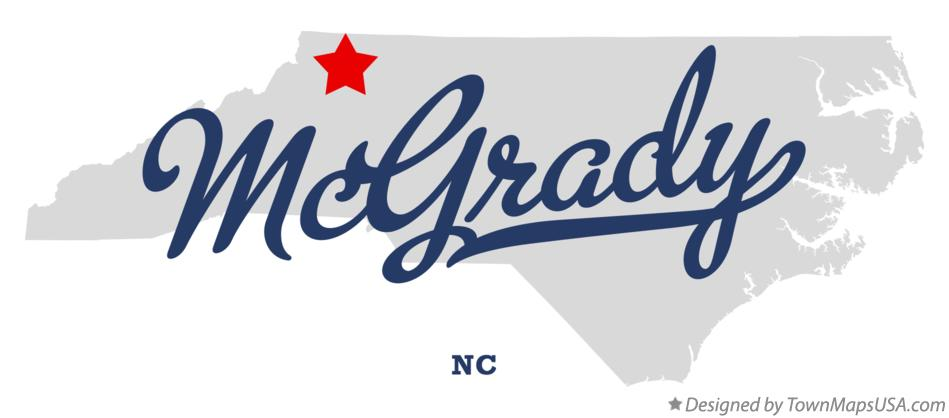 Map of McGrady North Carolina NC