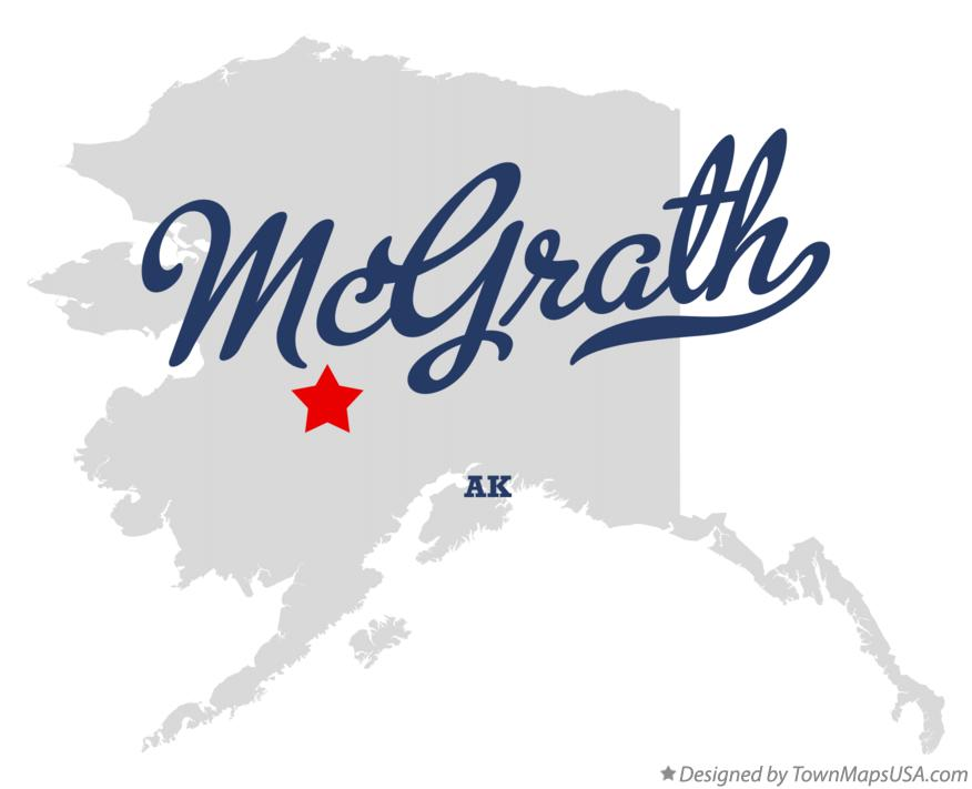 Map of McGrath Alaska AK