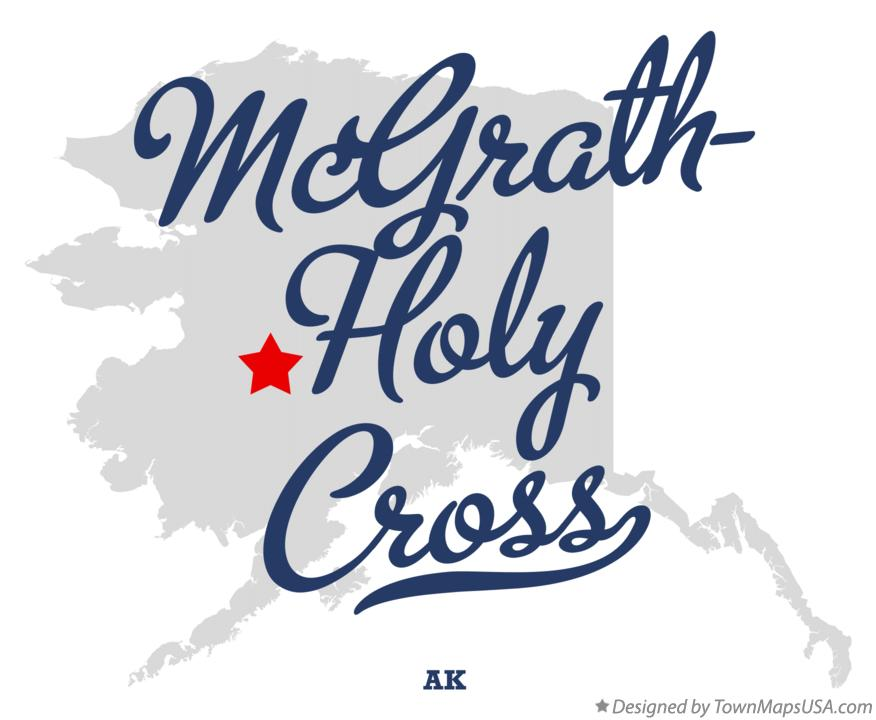 Map of McGrath-Holy Cross Alaska AK