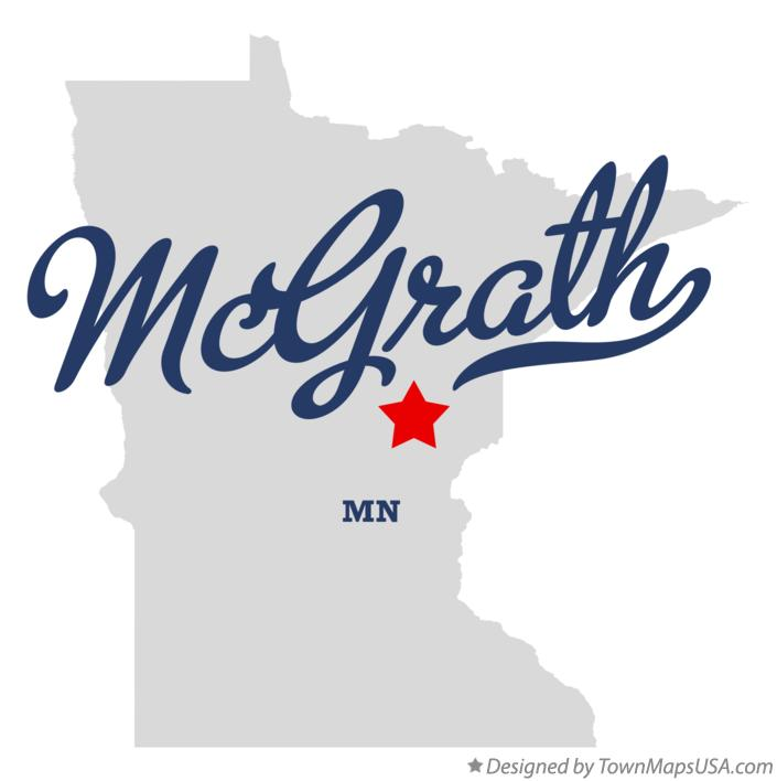 Map of McGrath Minnesota MN