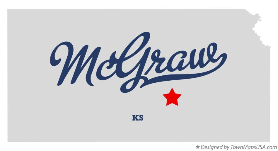 Map of McGraw Kansas KS