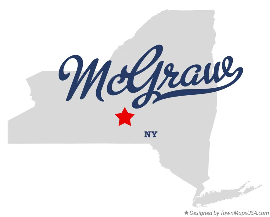 Map of McGraw New York NY