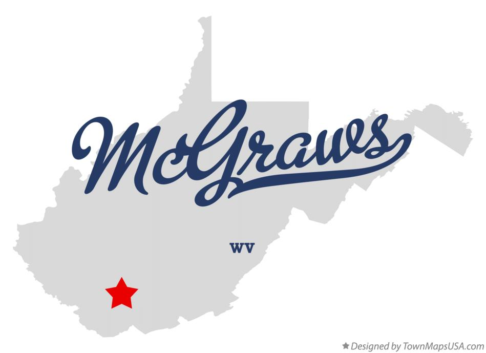 Map of McGraws West Virginia WV