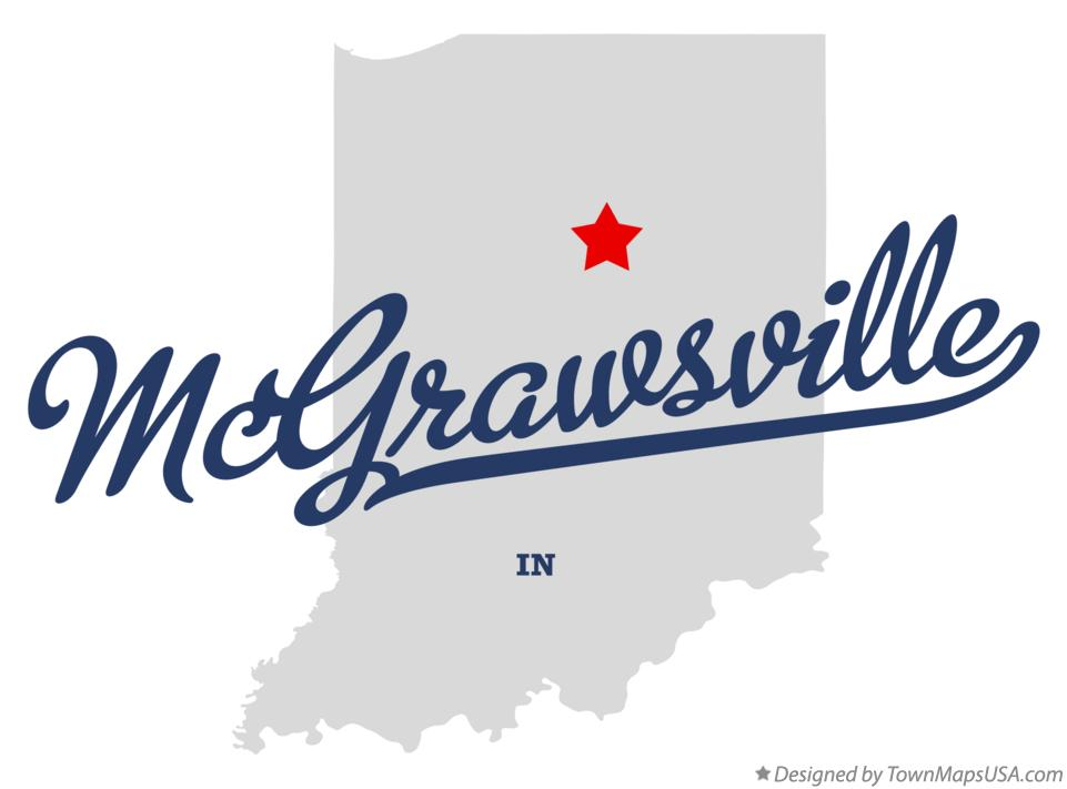 Map of McGrawsville Indiana IN