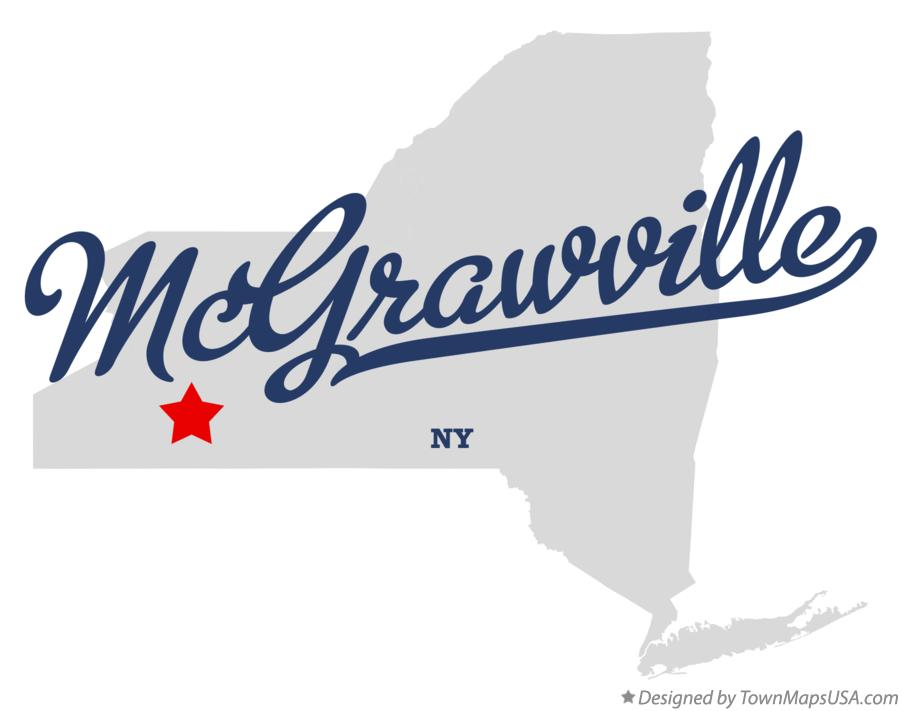 Map of McGrawville New York NY