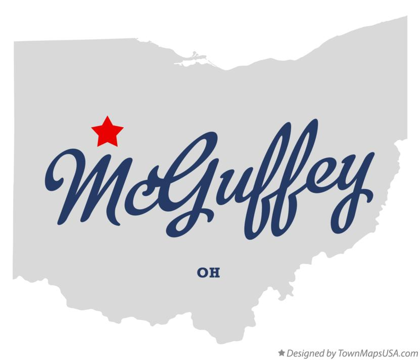 Map of McGuffey Ohio OH