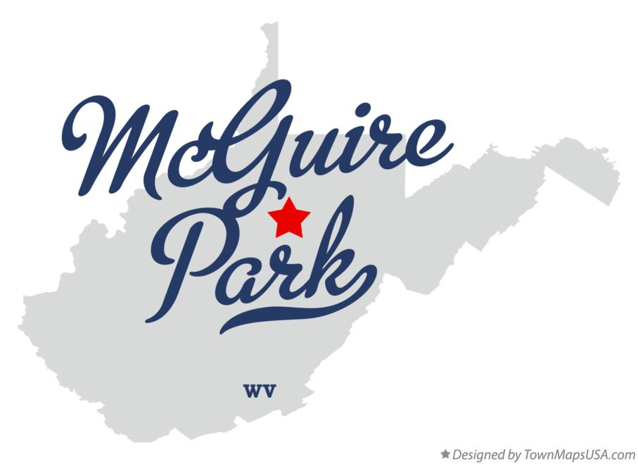 Map of McGuire Park West Virginia WV