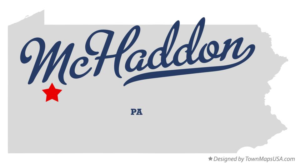 Map of McHaddon Pennsylvania PA