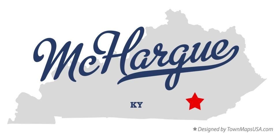 Map of McHargue Kentucky KY