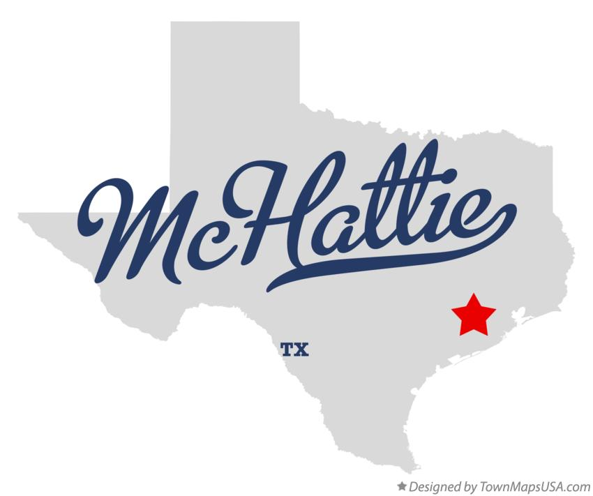 Map of McHattie Texas TX