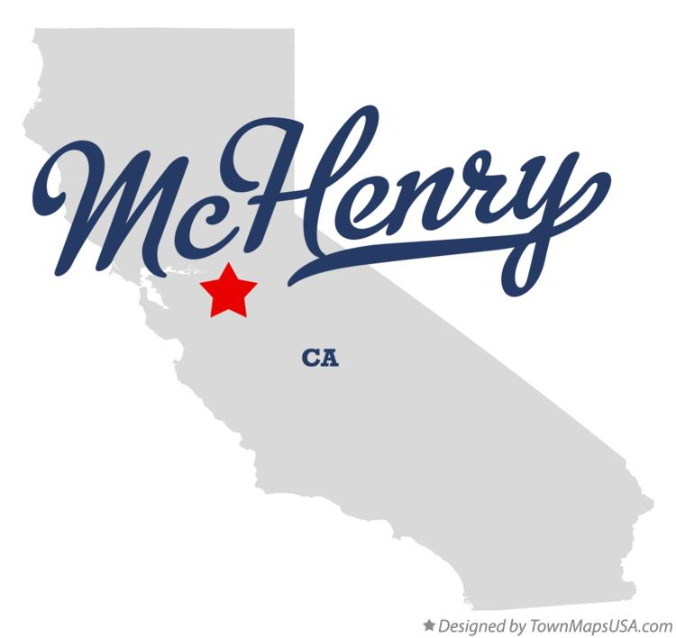 Map of McHenry California CA
