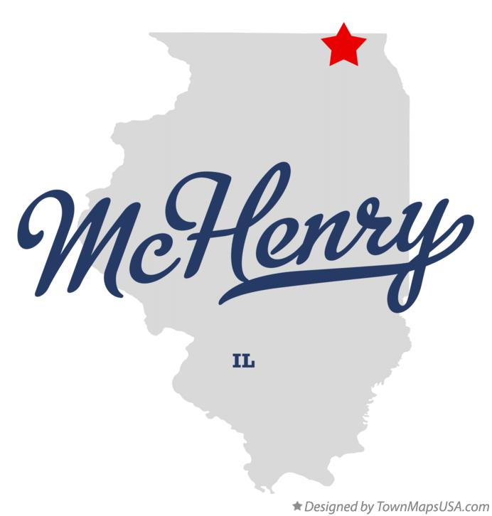 Map of McHenry Illinois IL