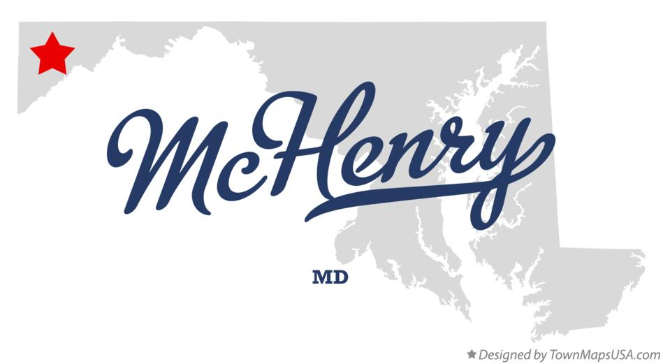 Map of McHenry Maryland MD