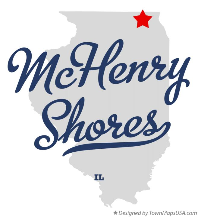 Map of McHenry Shores Illinois IL