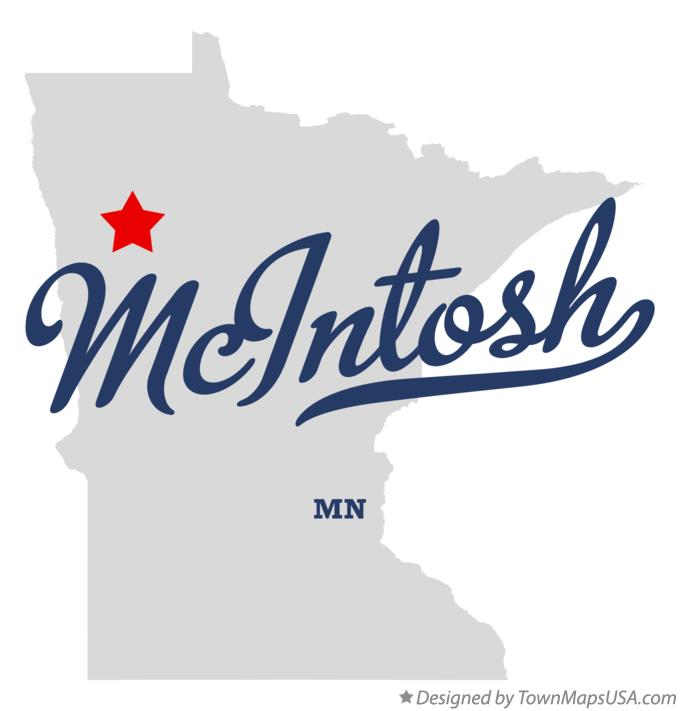 Map of McIntosh Minnesota MN