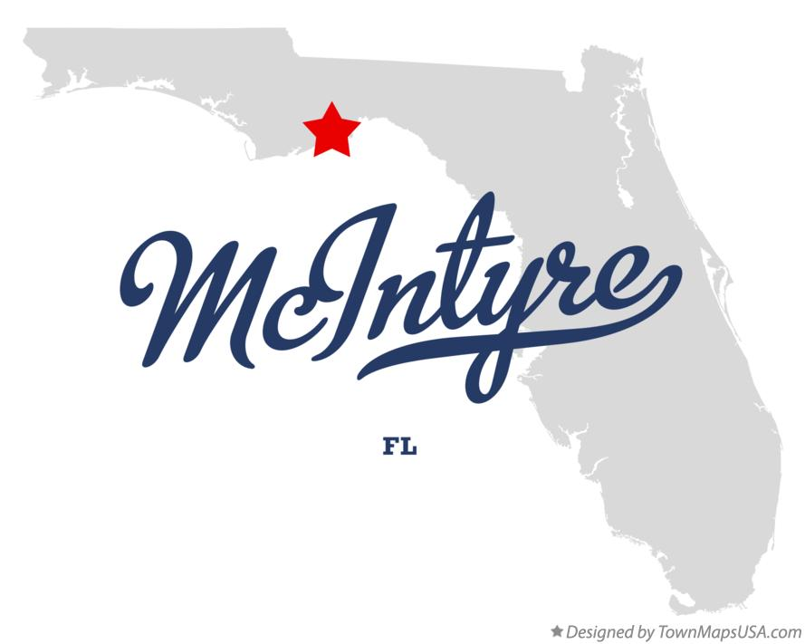 Map of McIntyre Florida FL