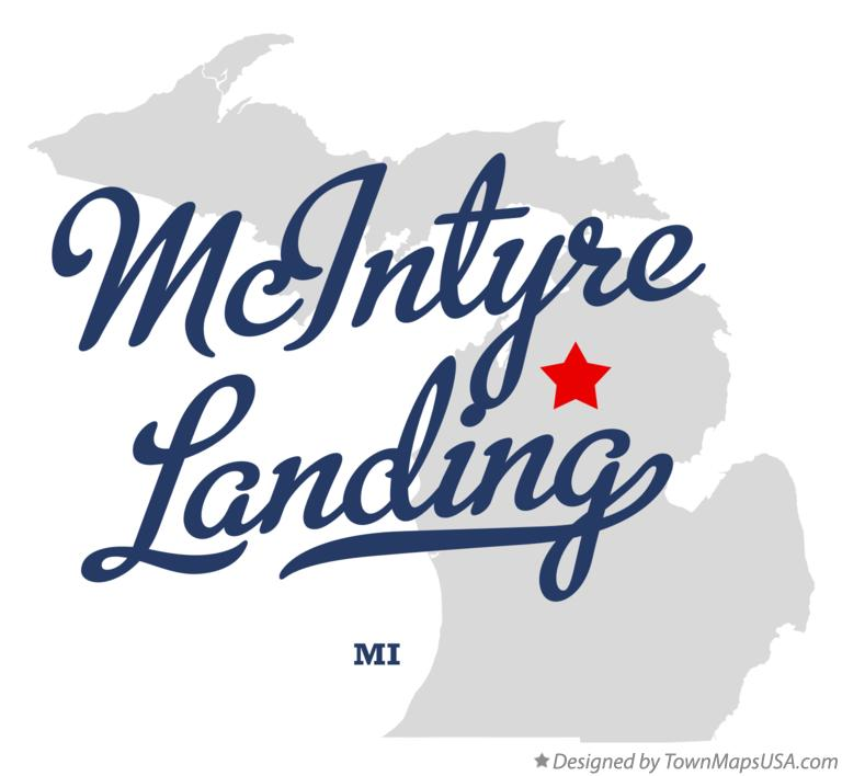 Map of McIntyre Landing Michigan MI