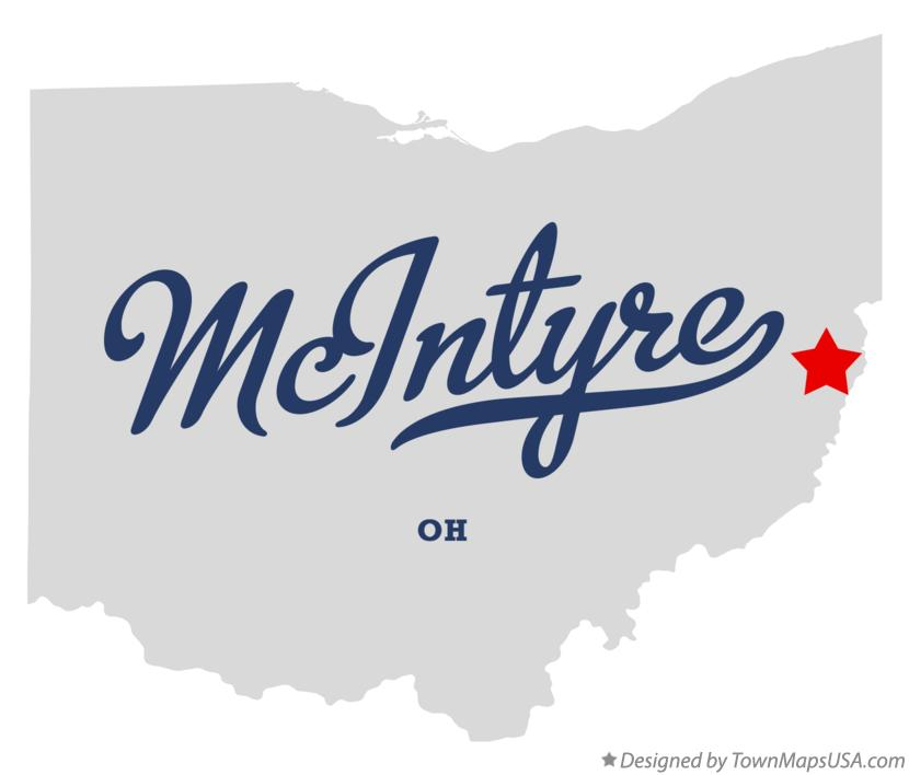 Map of McIntyre Ohio OH