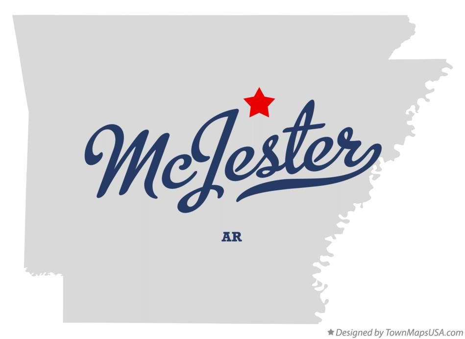 Map of McJester Arkansas AR