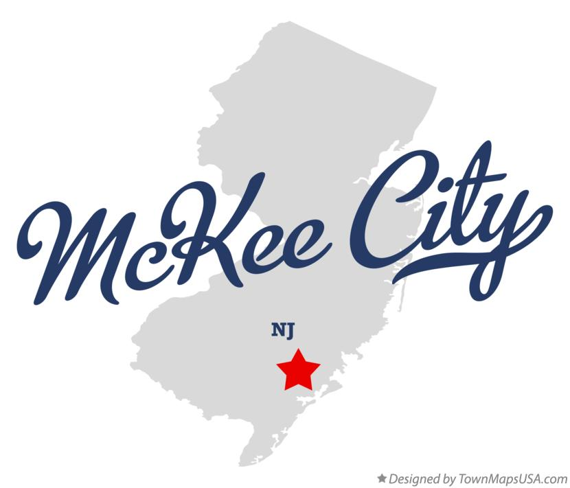 Map of McKee City New Jersey NJ