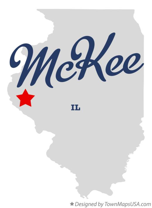 Map of McKee Illinois IL