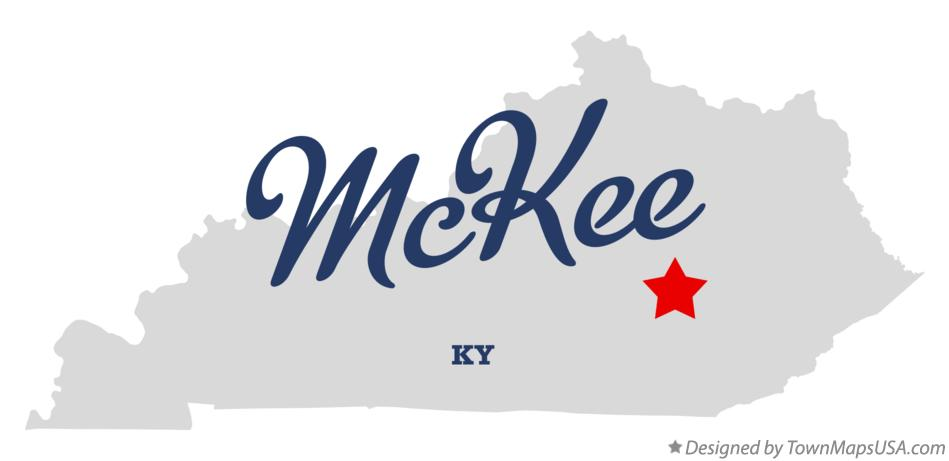 Map of McKee Kentucky KY