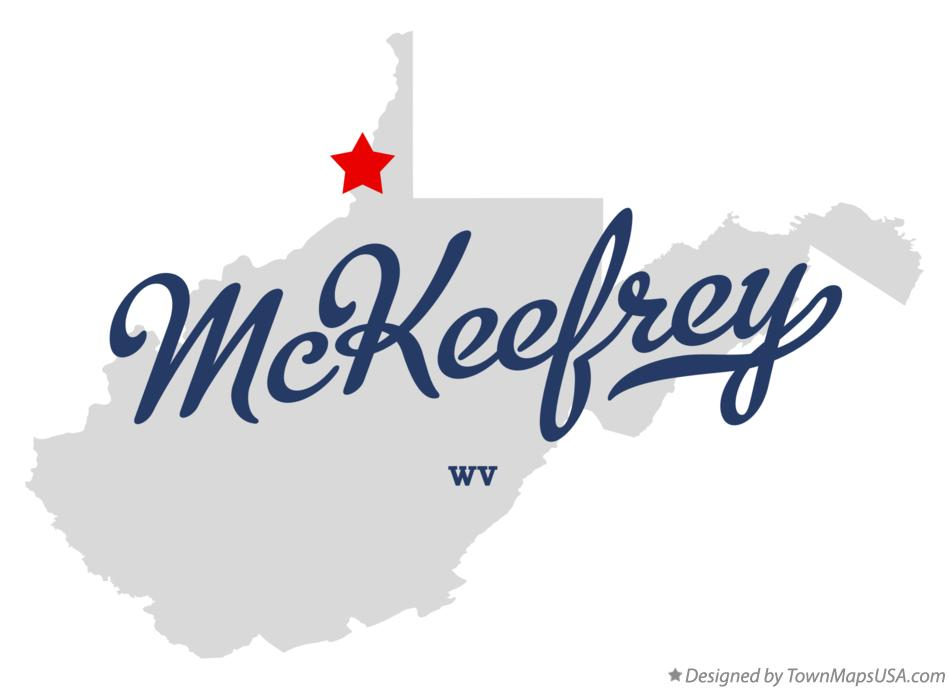 Map of McKeefrey West Virginia WV