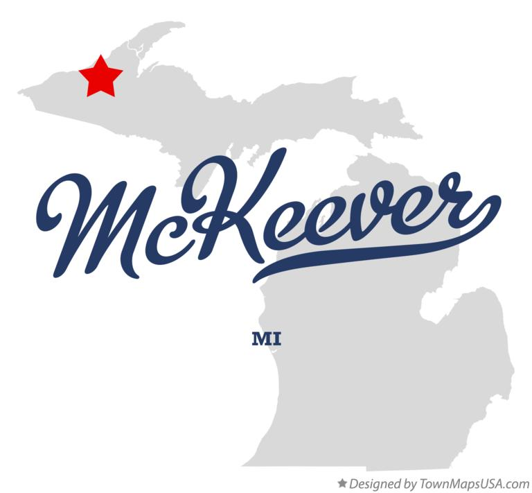 Map of McKeever Michigan MI