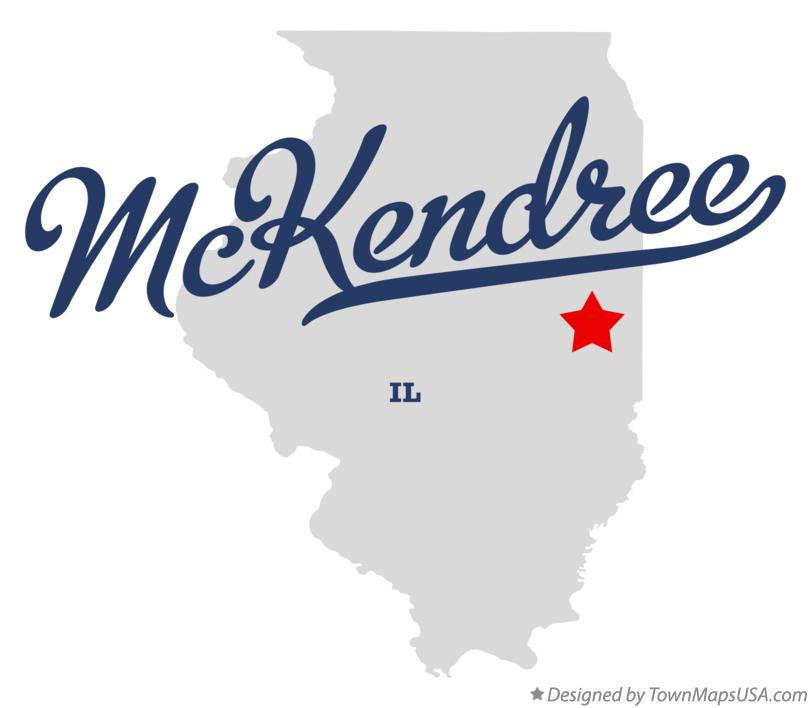 Map of McKendree Illinois IL