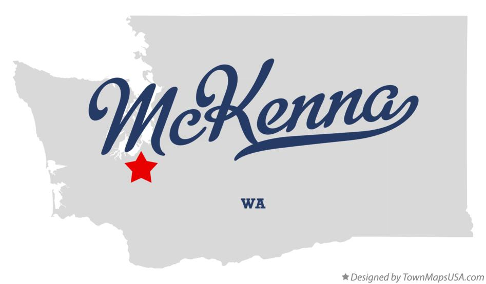Map of McKenna Washington WA