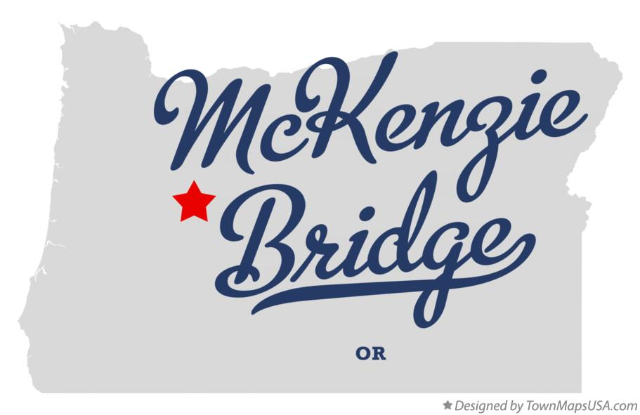 Map of McKenzie Bridge Oregon OR