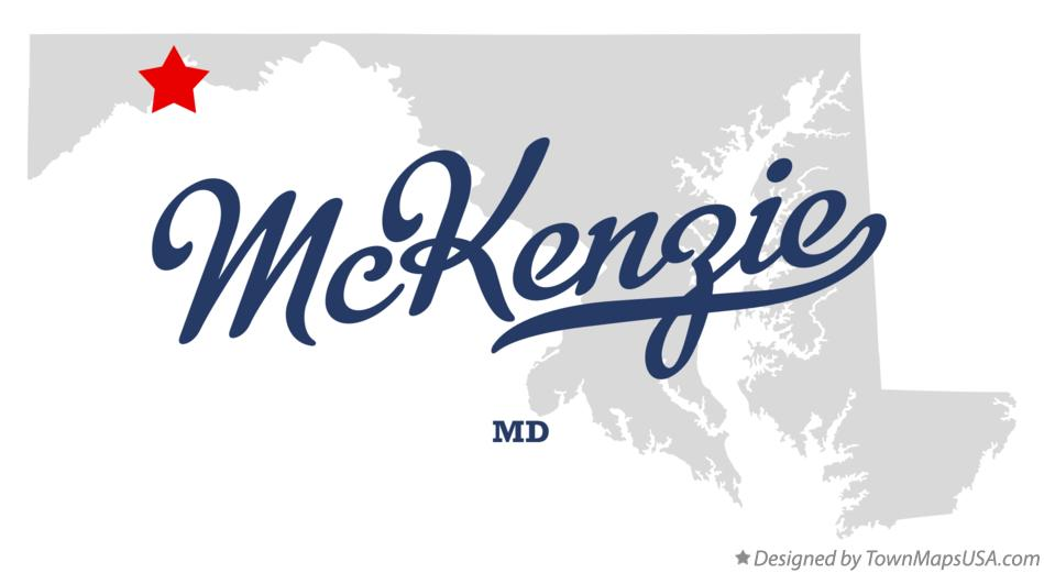 Map of McKenzie Maryland MD