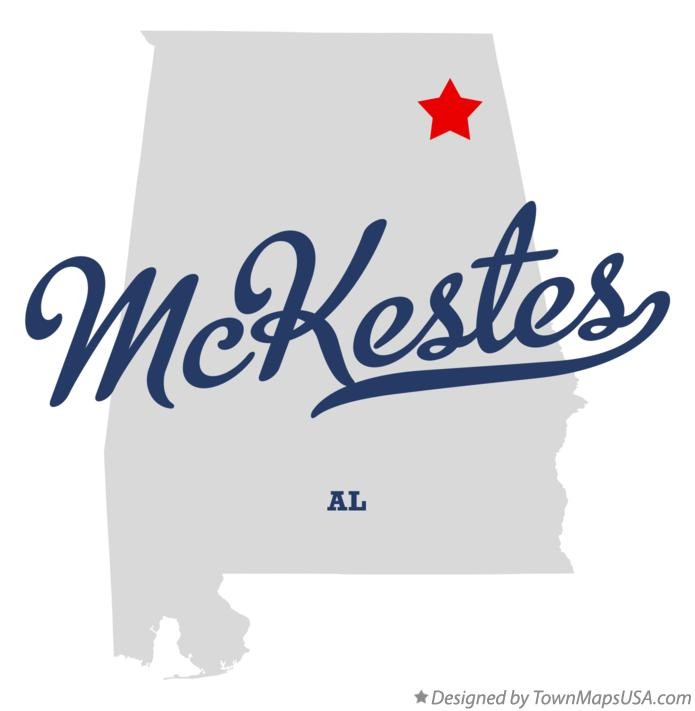 Map of McKestes Alabama AL