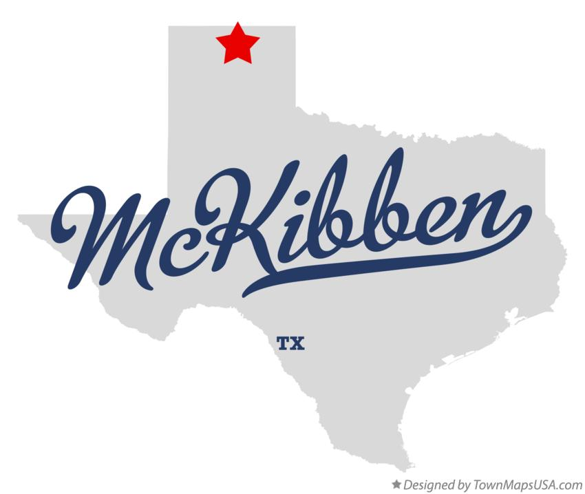 Map of McKibben Texas TX