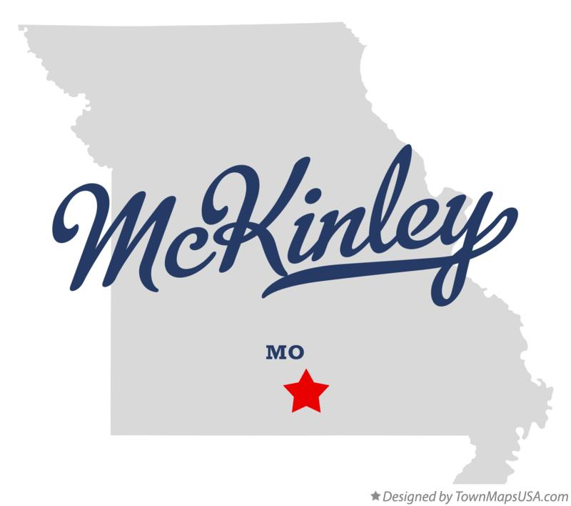 Map of McKinley Missouri MO