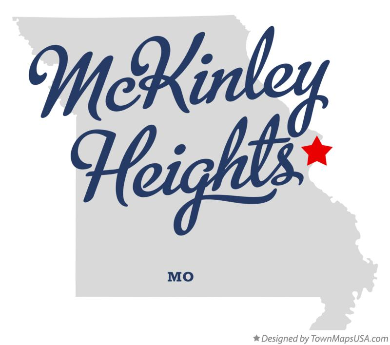 Map of McKinley Heights Missouri MO