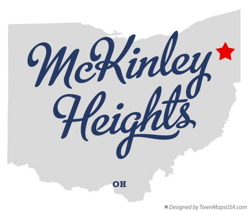 Map of McKinley Heights Ohio OH