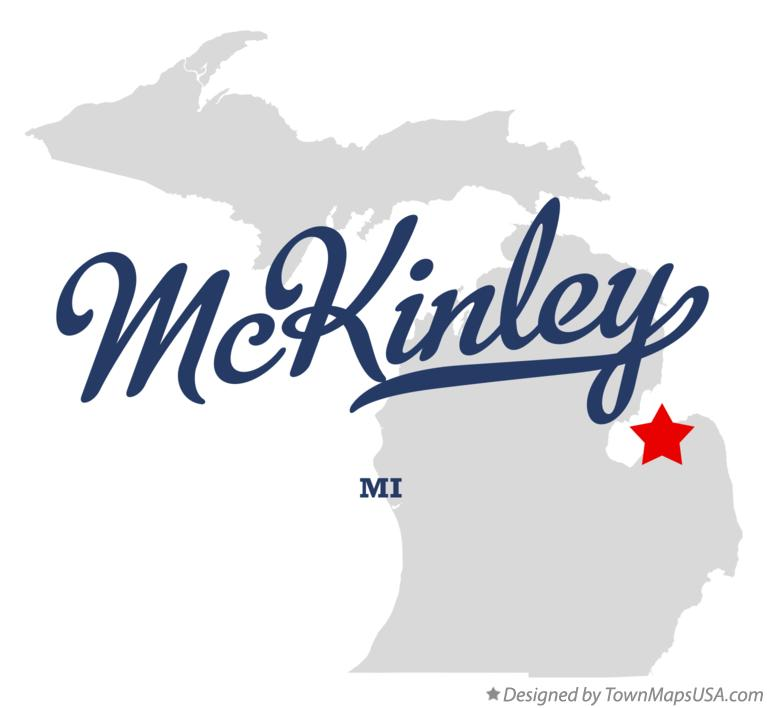 Map of McKinley Michigan MI
