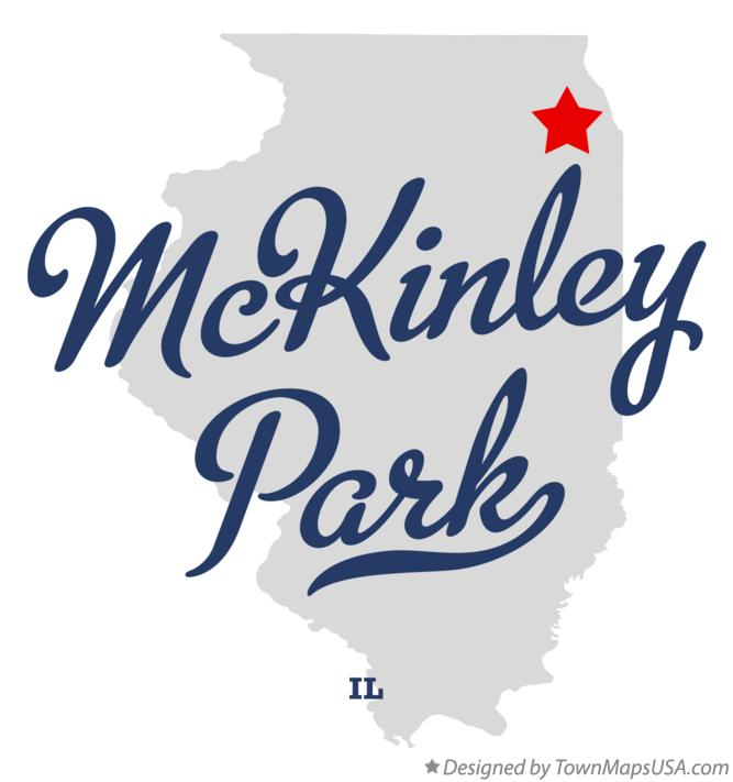 Map of McKinley Park Illinois IL