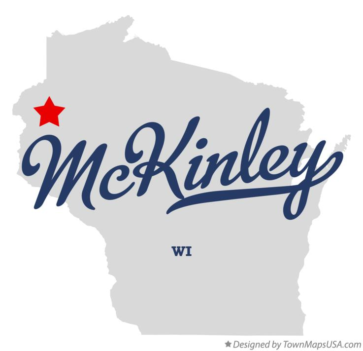 Map of McKinley Wisconsin WI