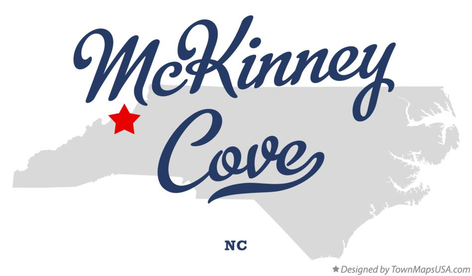 Map of McKinney Cove North Carolina NC