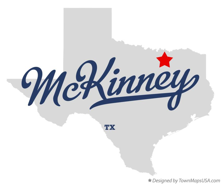 Map of McKinney Texas TX