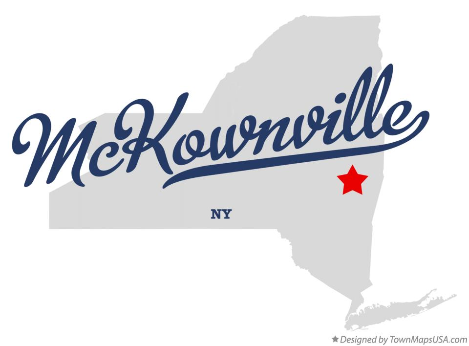 Map of McKownville New York NY