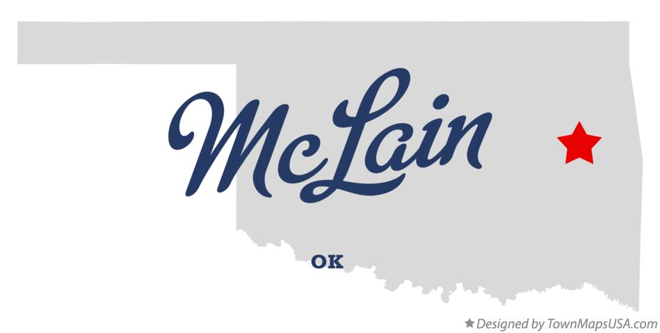 Map of McLain Oklahoma OK