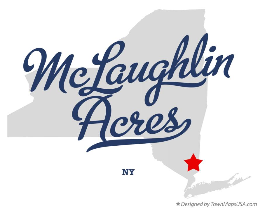 Map of McLaughlin Acres New York NY