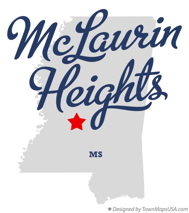 Map of McLaurin Heights Mississippi MS