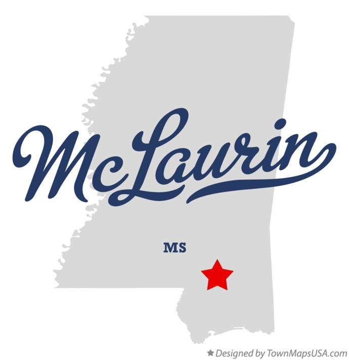Map of McLaurin Mississippi MS