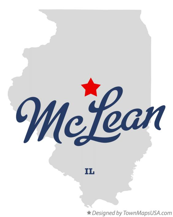 Map of McLean Illinois IL