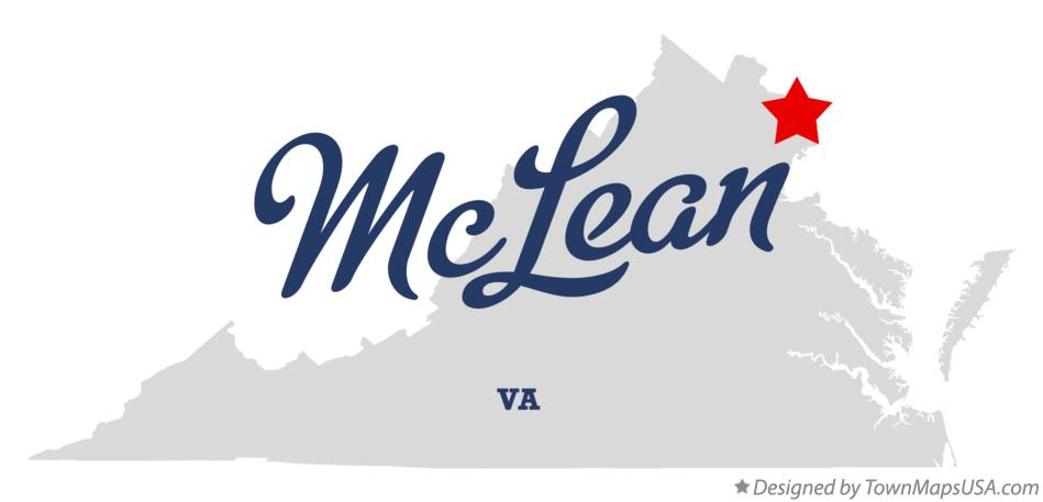 Map of McLean Virginia VA